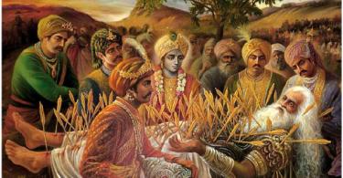 romapada-swami-on-bhismadev-laying-on-bed-of-arrows