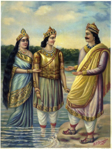 romapada-swami-on-shantunu-receving-devavrata-from-gangadevi