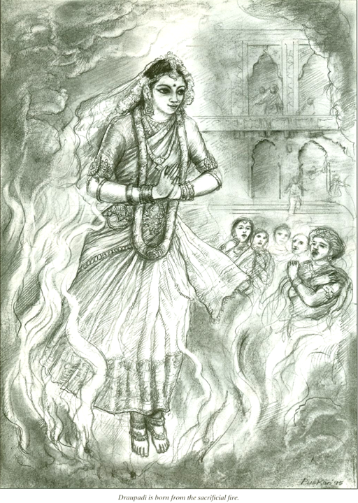 Romapada Swami on Draupadi being bron from fire sacrifice