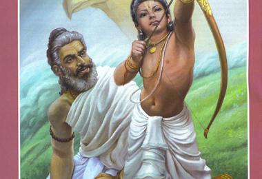 romapada swami on drona training arjuna
