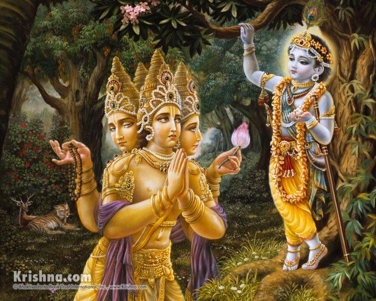 romapada swami on brahmas prayers to krishna